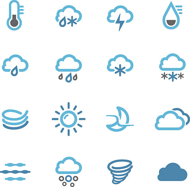 Weather Icons Set - Conc Series View All: hailstorm stock illustrations