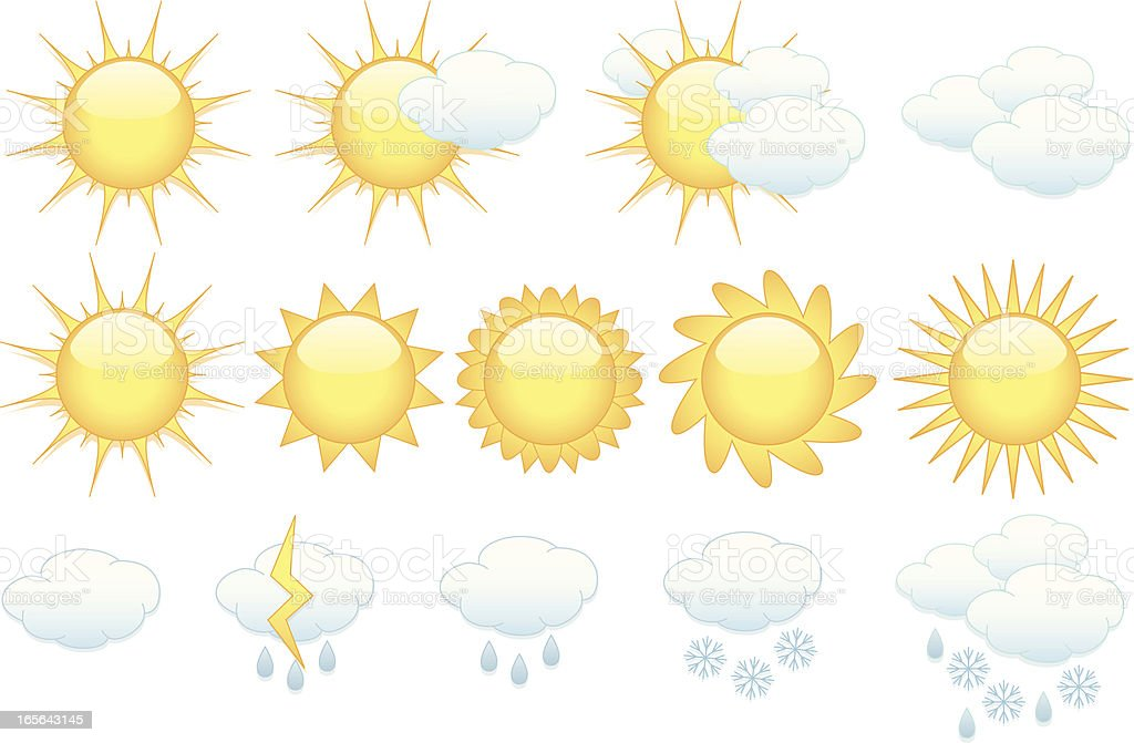 Weather Icons Set royalty-free stock vector art
