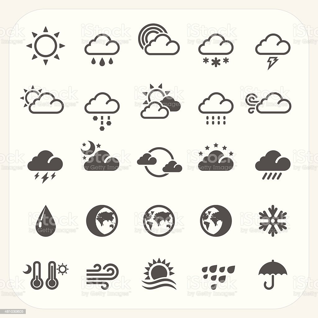 Weather icons set - ilustración de arte vectorial
