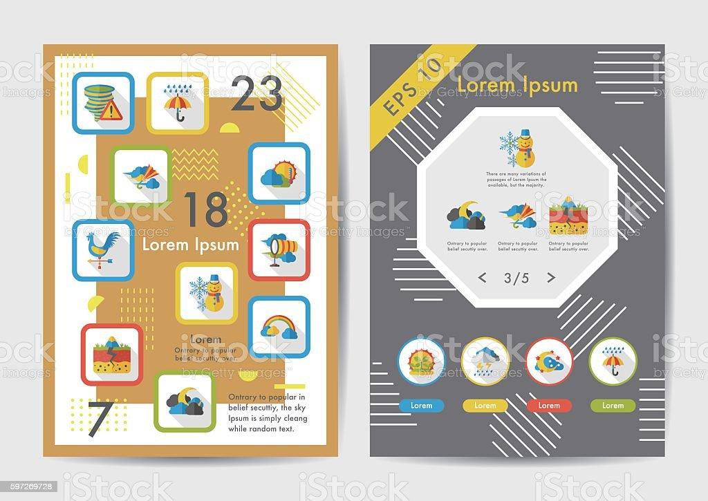 Weather icons set with long shadow,eps10 weather icons set with long shadoweps10 – cliparts vectoriels et plus d'images de bleu libre de droits