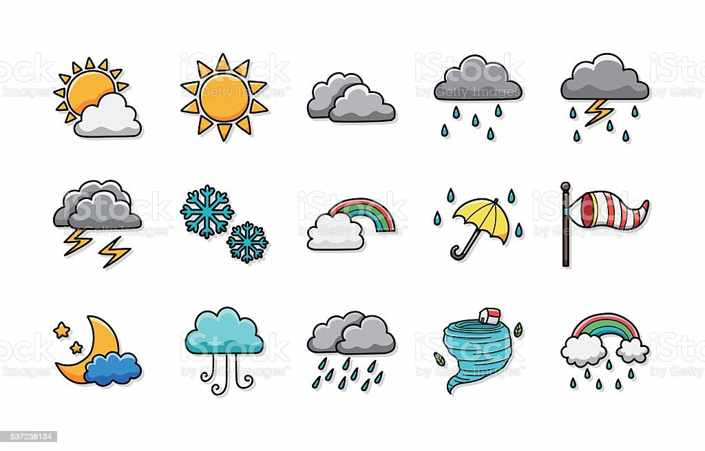 Weather icons set,eps10 vector art illustration