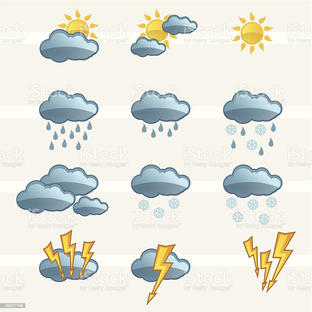 Weather Icons Signs royalty-free weather icons signs stock vector art & more images of blue