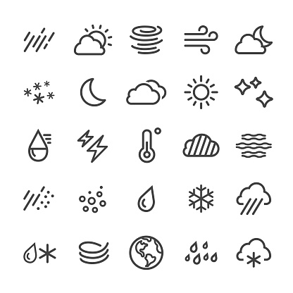 Weather Icons - Smart Line Series