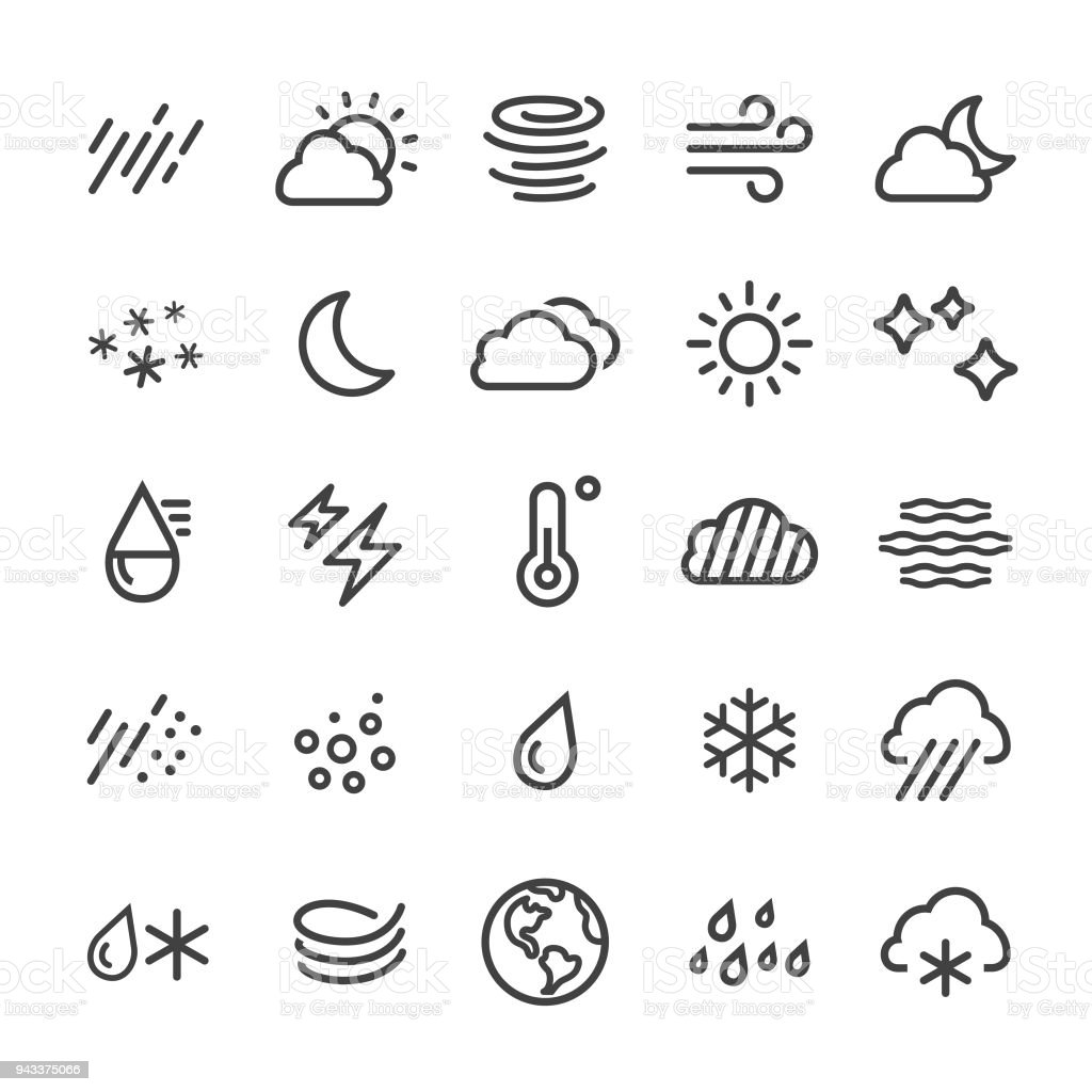 Weather Icons - Smart Line Series vector art illustration