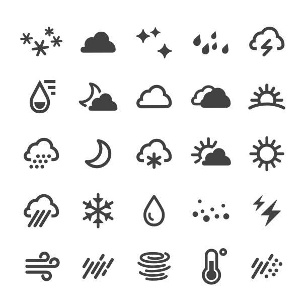 날씨 아이콘 - 스마트 시리즈 - 날씨 stock illustrations