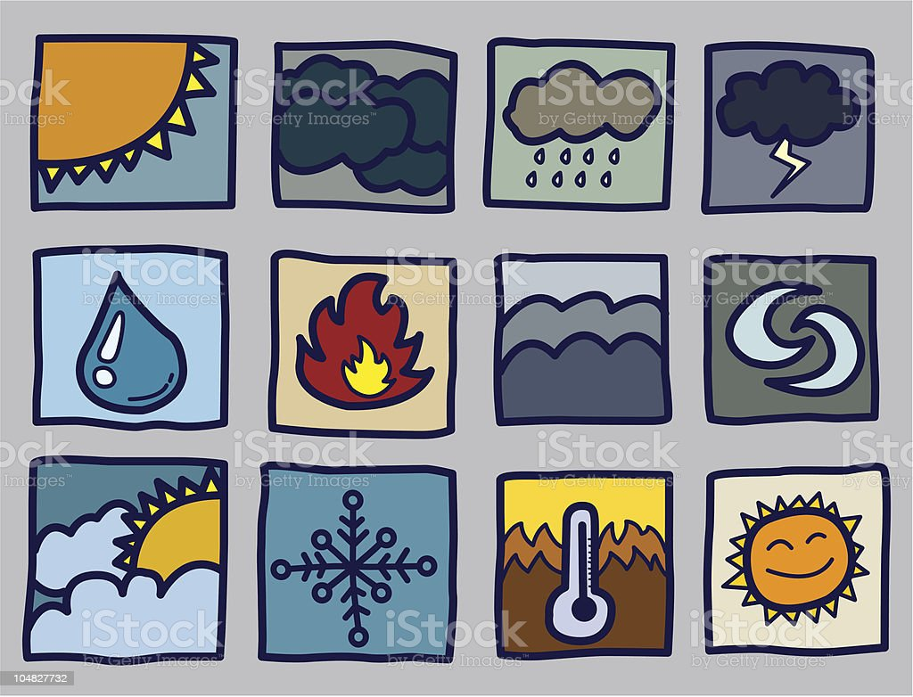 weather icons royalty-free weather icons stock vector art & more images of art product