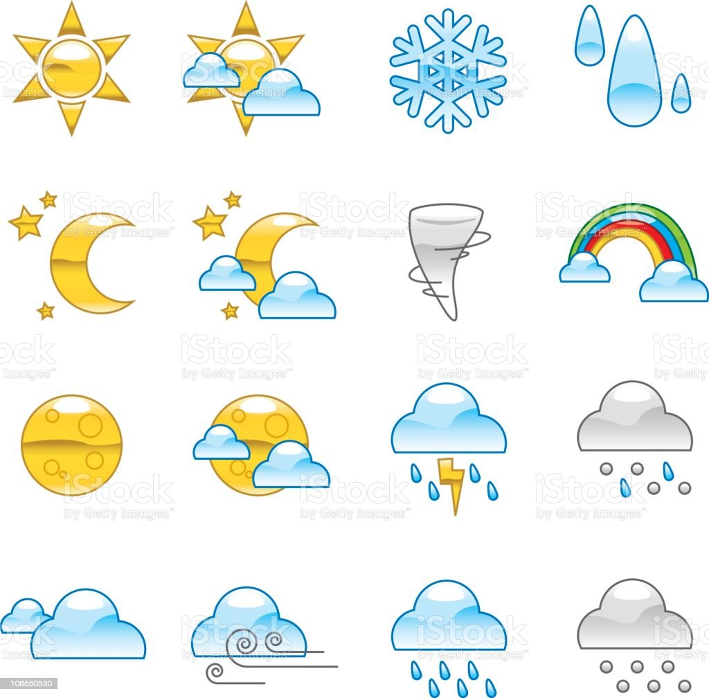 Weather Icons royalty-free weather icons stock vector art & more images of blizzard