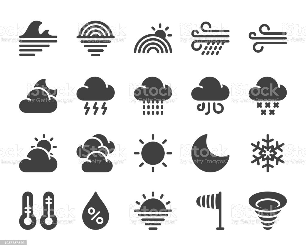 Weather - Icons vector art illustration