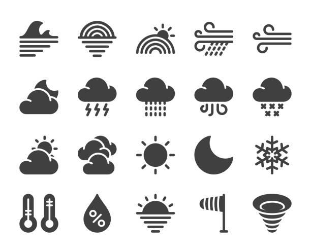 illustrazioni stock, clip art, cartoni animati e icone di tendenza di weather - icons - grandine vector