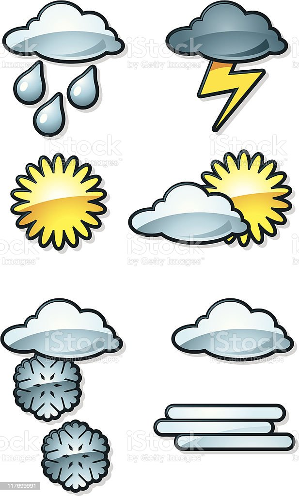 weather icons royalty-free weather icons stock vector art & more images of cloud - sky