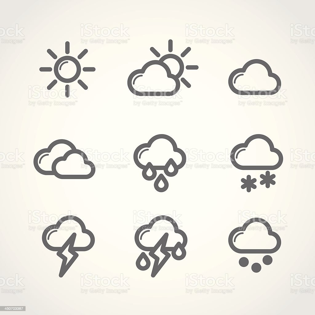 Weather icons royalty-free weather icons stock vector art & more images of blue