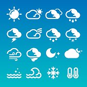 Weather Icons (White/Blue)