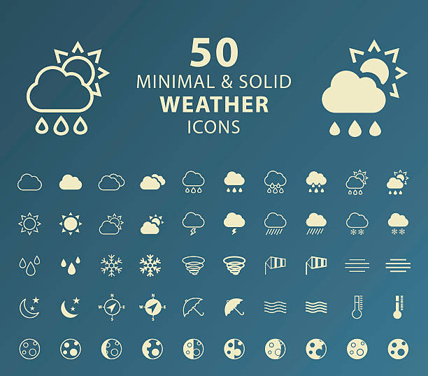 weather icons. - weather stock illustrations, clip art, cartoons, & icons