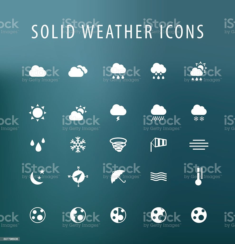Weather Icons. vector art illustration