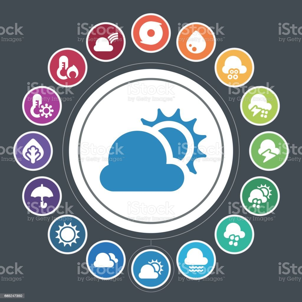 Weather icons royalty-free weather icons stock vector art & more images of cartoon