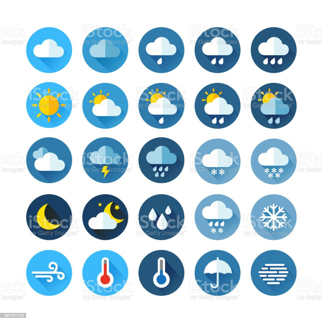 Weather Icons royalty-free weather icons stock illustration - download image now