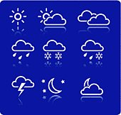 Weather icons (vector)