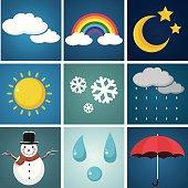 Weather Illustration Set