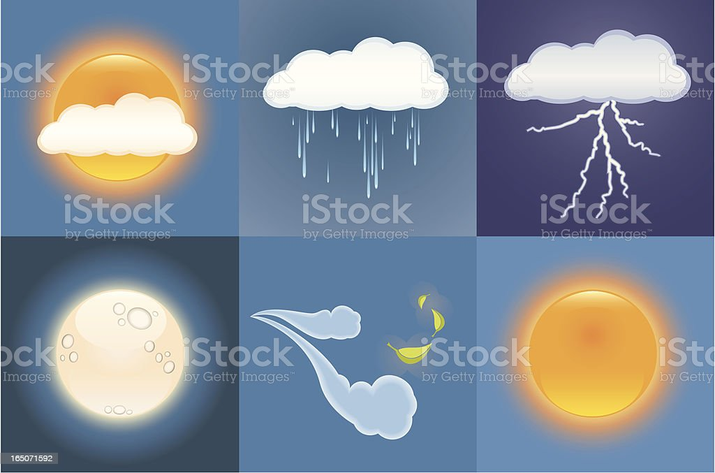 Weather Image Set royalty-free stock vector art