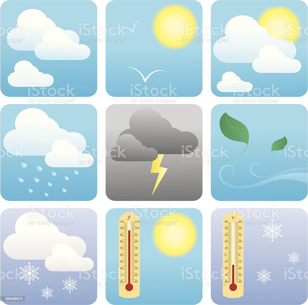 Weather - incl. jpeg royalty-free weather incl jpeg stock vector art & more images of celsius