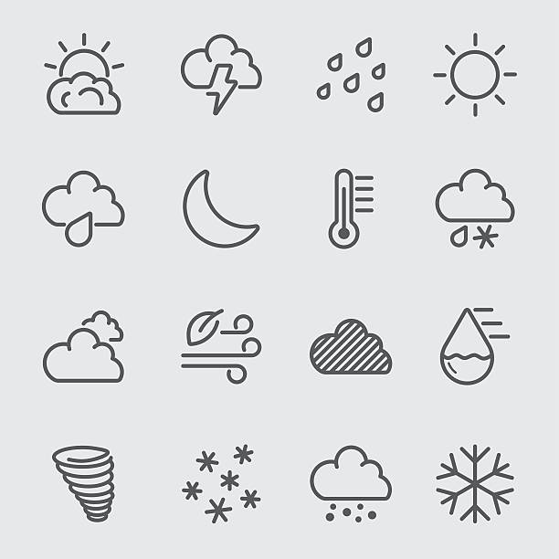 Weather line icon Weather line icon	 hailstorm stock illustrations