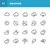 20 Weather Outline Icons.