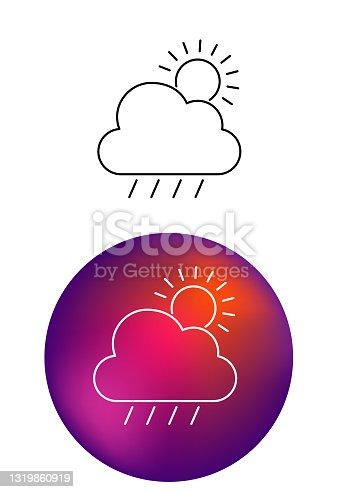 istock Weather Line Icons 1319860919