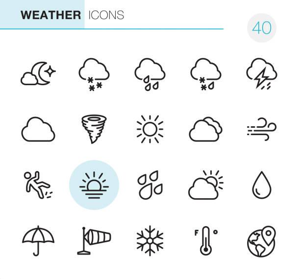 illustrazioni stock, clip art, cartoni animati e icone di tendenza di weather - pixel perfect icons - grandine vector