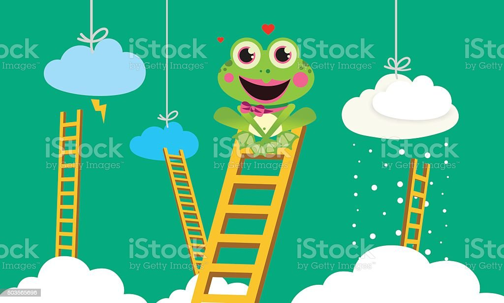 Weather Prophet Frog vector art illustration
