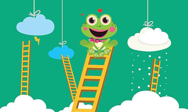 Weather Prophet Frog vector art illustration