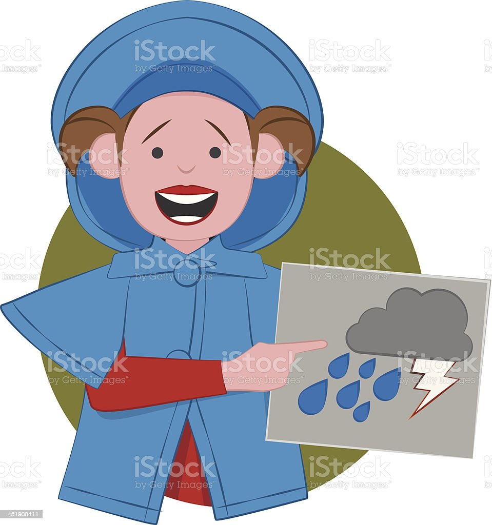 Weather - Rainy Time royalty-free stock vector art