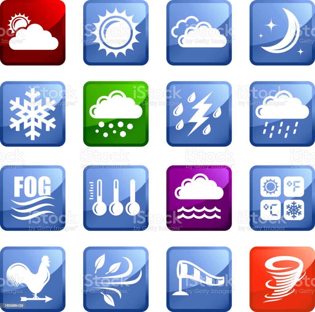 Weather royalty free vector arts super vector icon set stickers royalty-free stock vector art