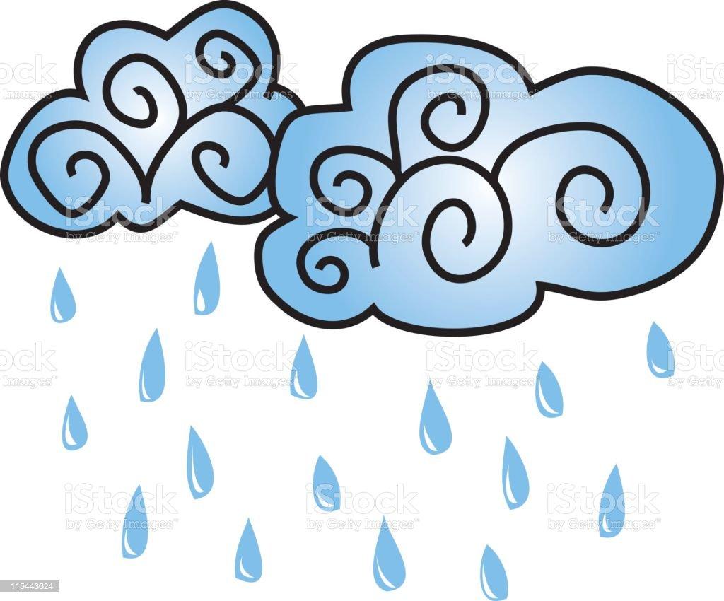 Weather Series - Rain Showers royalty-free stock vector art