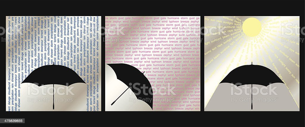Weather set royalty-free stock vector art