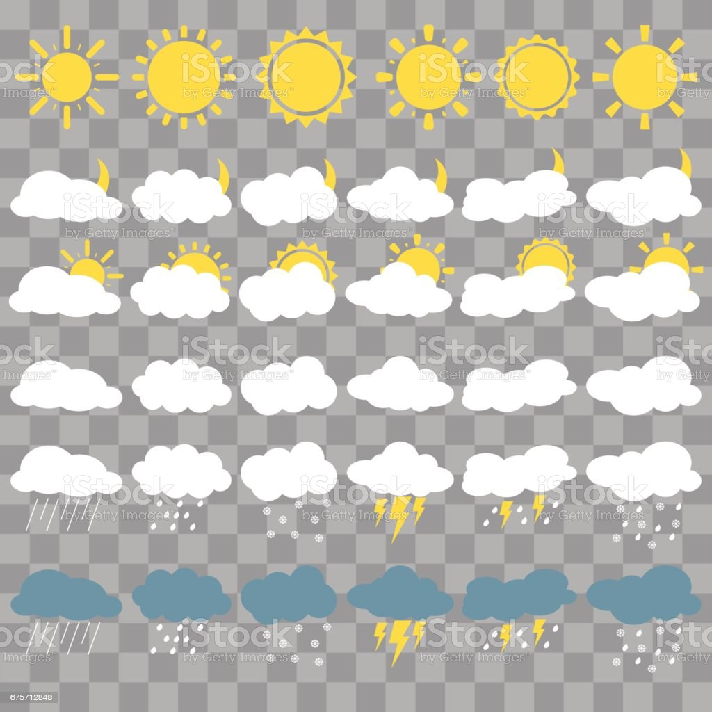 Weather set royalty-free weather set stock vector art & more images of clear sky