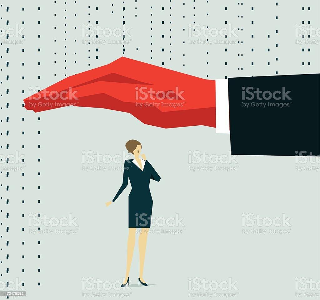 Weather Shelter vector art illustration