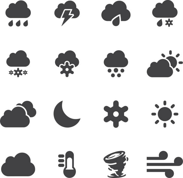 Weather Silhouette icons 2 | EPS10 Weather Silhouette icons 2  hailstorm stock illustrations