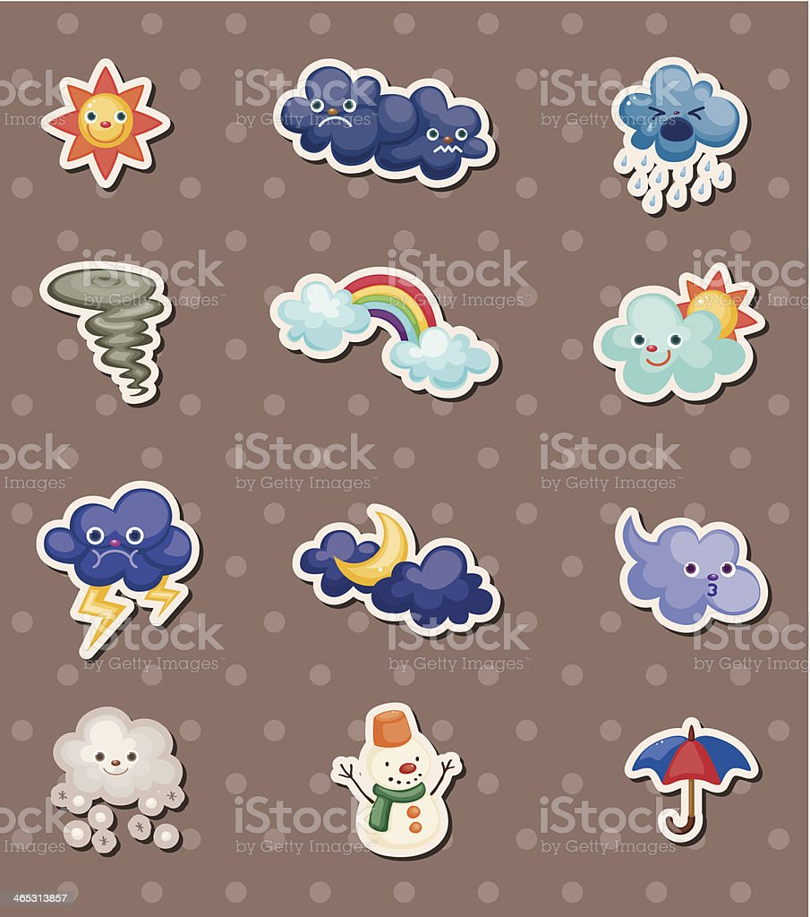 weather stickers royalty-free weather stickers stock vector art & more images of art