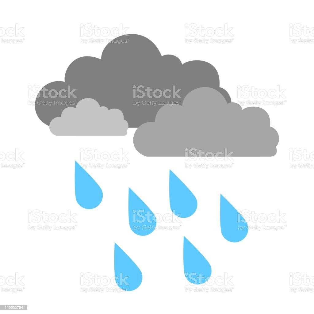 weather storm illustration, sun rain symbol - weather storm icon,...