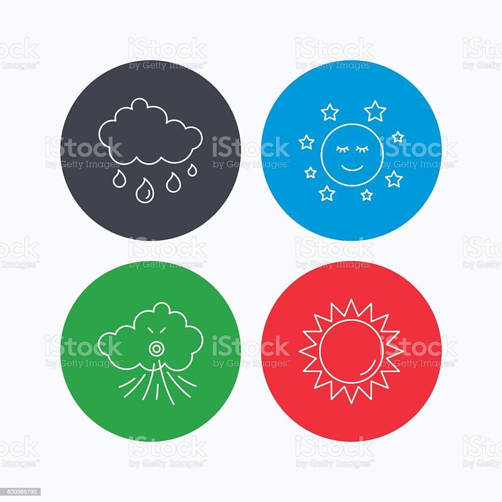 Tempo, sol e a chuva ícones. tempo sol e a chuva ícones - arte vetorial de stock e mais imagens de aplicação móvel royalty-free