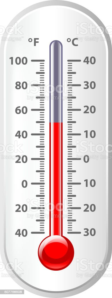 Weather thermometer isolated on white vector vector art illustration