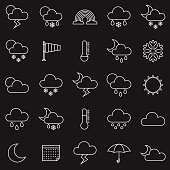 Weather Thin Line Outline Icon Set