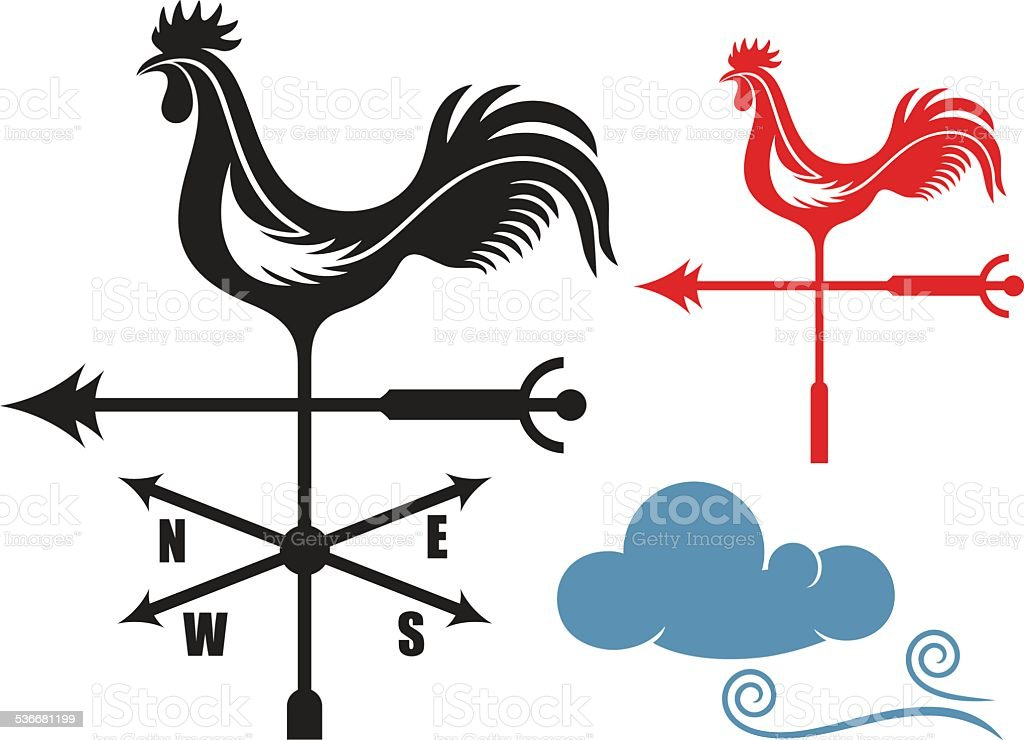 Weather Vane vector art illustration