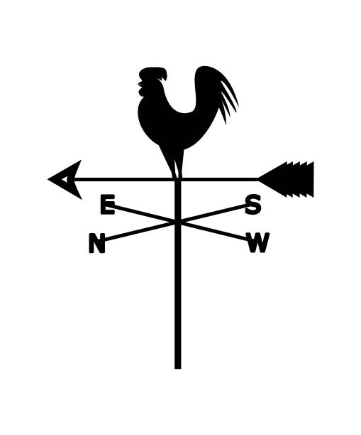 Weather vane Vector silhouette of a weather vane weather vane stock illustrations