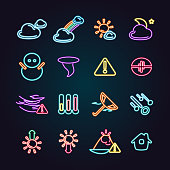 The vector files of weather icon set.