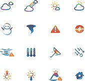 The vector file of weather icon set.