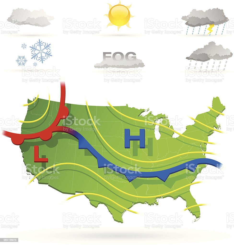 royalty free weather maps clip art vector images illustrations rh istockphoto com clipart map of hawaii clip art maps of the united states