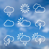 Weather widgets template icons for computing web and app.