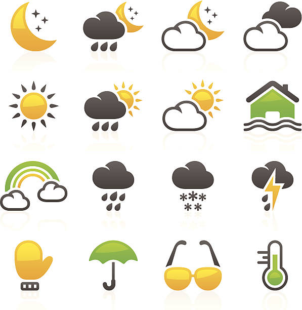 Weather_Flory series_7 Set of 16 professional weather icons for web applications,web presentation and more. File includes: vector EPS, PNG, JPG. forked lightning stock illustrations