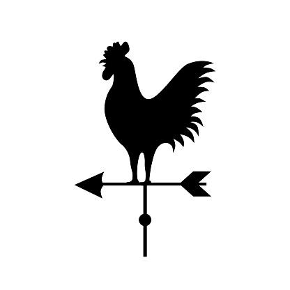 Vector art: weathercock shape.